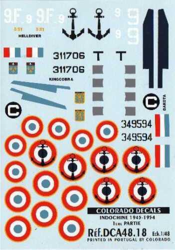 Colorado Décalques 1//48 Indochine 1945-54 #48018