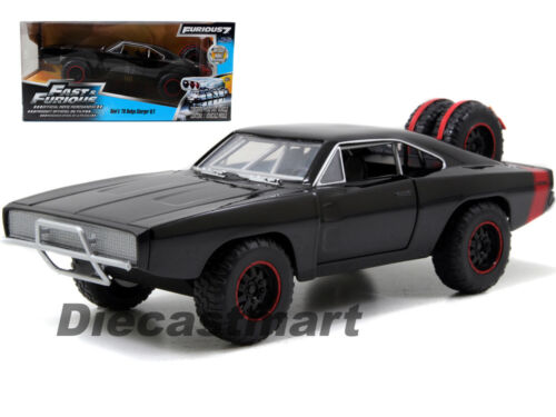 JADA 97038 FAST AND FURIOUS 7 DOM/'S 1970 DODGE CHARGER R//T 1:24 OFF ROAD BLACK