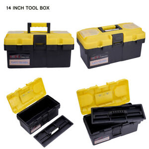 Details About 14inch Plastic Diy Storage Tool Box Chest Handle Tray Compartment Toolbox Case