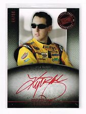 2012 PRESS PASS REDLINE KYLE BUSCH RED INK  AUTOGRAPH /50