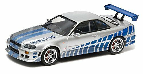 The Fast And The Furious Serie 3 1 43 1999 Nissan Skyline Gt-R Silber mit Blau
