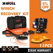 4WD Winch Recovery Kit Snatch Straps Pulley Block Bow Shackles Shovel X-BULL 4X4