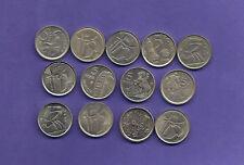 ESPAÑA: 13x5 pesetas 1989 a 2001. Juan Carlos I