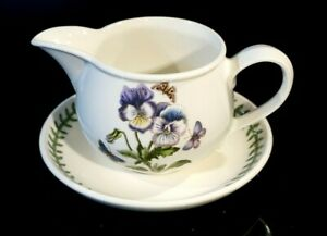 Beautiful-Portmeirion-Botanic-Garden-Pansy-Gravy-Boat-And-Underplate