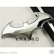 KHABRO | 3D METAL LOGO Emblem Badge Decal Sticker for CAR BIKE BUS | BAT MAN SLV