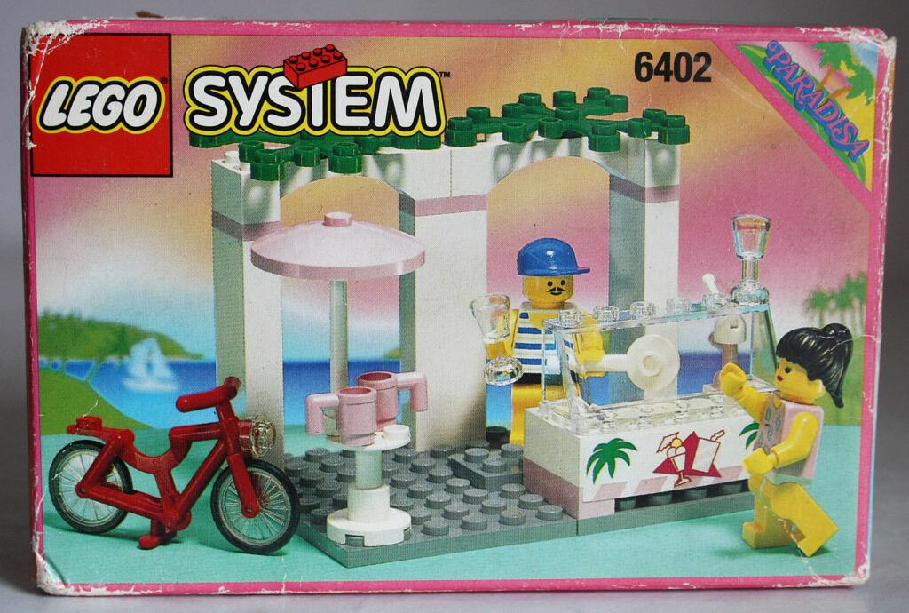 RARE VINTAGE 1994 LEGO SYSTEM 6402 PARADISA SIDEWAY CAFE NEW MISB SEALED