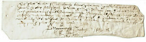 15th-C-Fragment-medieval-manuscript-with-signature-used-in-bookbinding