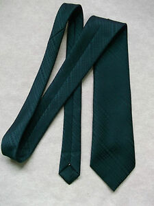 THEROS-SHIMMERY-DARK-GREEN-PLAIN-CLASSIC-SMART-RETRO-TIE-VINTAGE-70S-80S-MOD