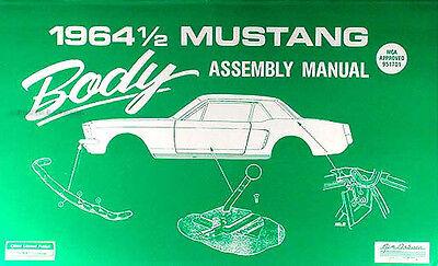1964 Ford Mustang Corpo Fabbrica Assemblaggio Manuale 64 Finestre Chiusure Sapore Fragrante (In)
