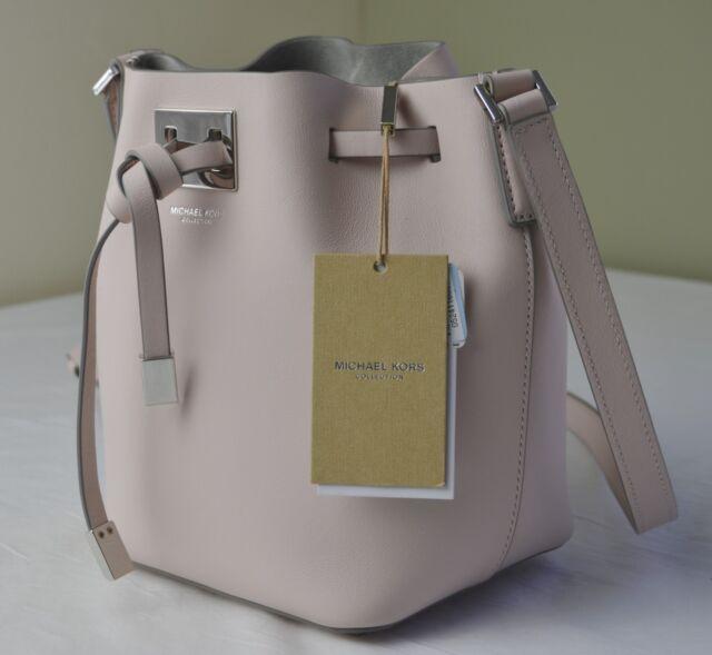 690 Michael Kors Collection Cameo Pink Miranda Small Drawstring Bucket Bag