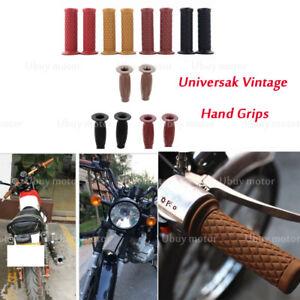 7-8-034-22mm-Rubber-Cafe-Racer-Hand-Grips-For-Kawasaki-KZ650-W650-KZ400-KZ550-K750