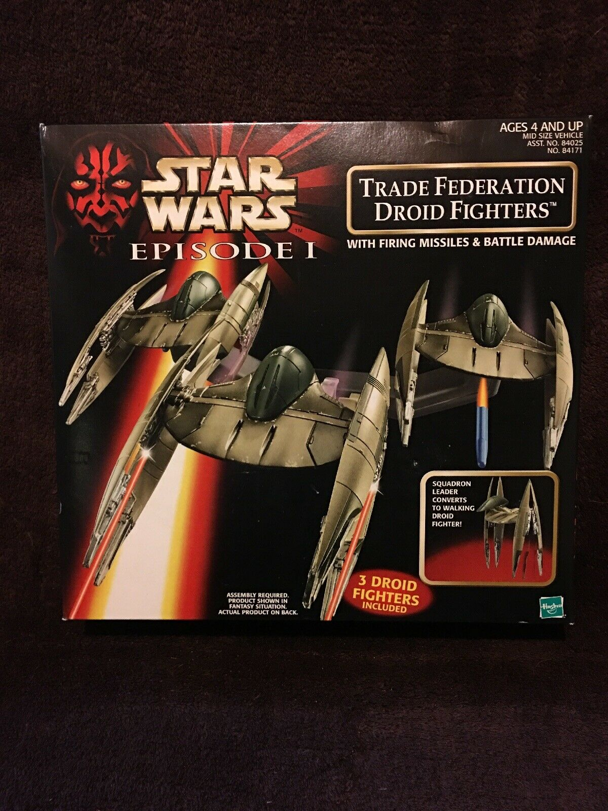Star Star Star Wars Episode 1 Electronic Naboo Fighter & Trade Federation Droids, NIB 648757