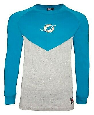 finest selection 6e7cb 24477 NFL Miami Dolphins T Shirt Mens ALL SIZES Raglan Long Sleeve ...