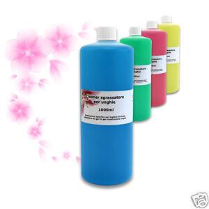 cliner sgrassante unghie  CLEANER sgrassatore 1000ml ricostruzione unghie gel UV acrilico ...