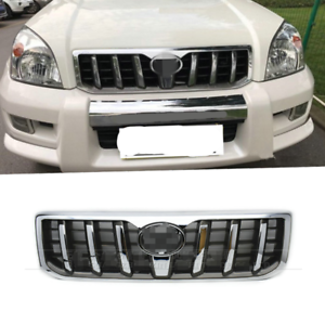 2003-2009 For Toyota Land Cruiser Prado FJ120 Chrome Front Grille Grill Trim New
