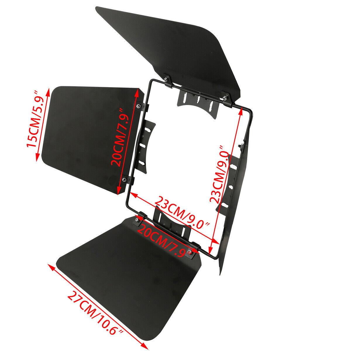 100W/200W COB LED Stage Par Light Cover Baffle Sheet Metal Black Universal