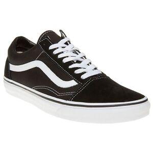 VANS SKOOL Da Uomo Tutti OLD Sneakers Scarpe di tela nera