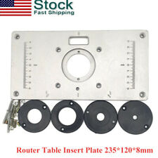 New Aluminum Router Table Insert Plate 235*120*8mm With Ring For Woodworking