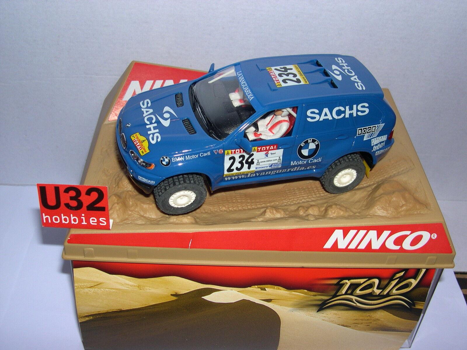 NINCO 50343 SLOT CAR BMW X5    234 MOTOR CADI SACHS MB 13025c