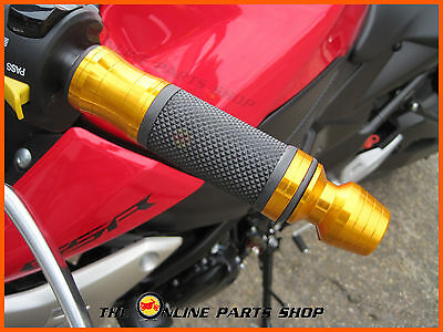 GOLD Quality Aluminium Hand Grips / Bar Ends fits Cagiva Brillo 125 Canyon 500
