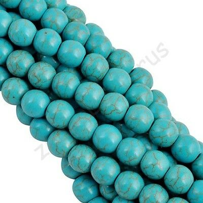 4 6 8 10 12 14 mm 100% Real Natural Turquoise Gemstone Spacer Loose Beads Charm