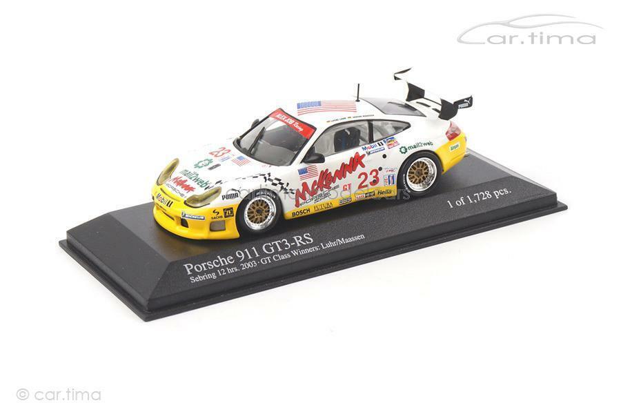 Porsche 911 (996) gt3 RS-Winner 12h Sebring 2003-Luhr-Minichamps 1 43 4000