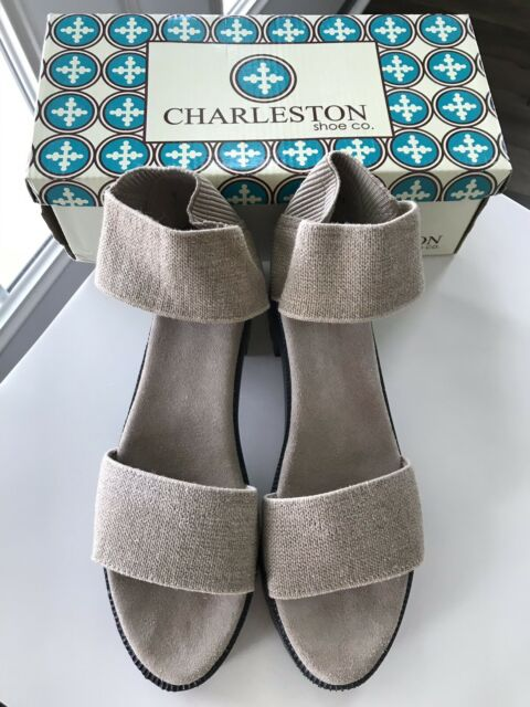 Silver Grey Women/'s Charleston Shoe Co Collins Style Sandals
