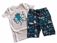 NWT Boys Gymboree Octopus short sleeve shirt shorts pajamas gymmies 4 5 6 7 8 10