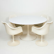 Eero Saarinen For Knoll 54 Inch Tulip Conference / Dining Table w/ 4 Armchairs!