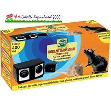 Ultrasuoni per topi e ratti dissuasore repellente roditori rodent raus 400 mq