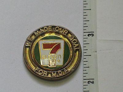 Vtg National 7 Eleven Convenience Store Association Franchise Lapel Tack Pin