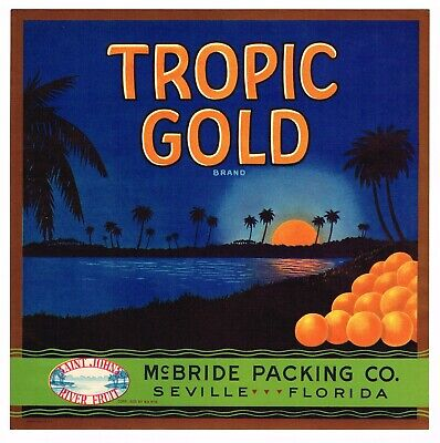 Davenport Florida Merry Christmas Xmas Orange Citrus Fruit Crate Label Art Print