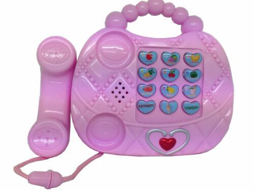 Enfants Sac à Main//Sac forme jouet téléphone activités d/'apprentissage pour les filles NOUVEAU /_ UK