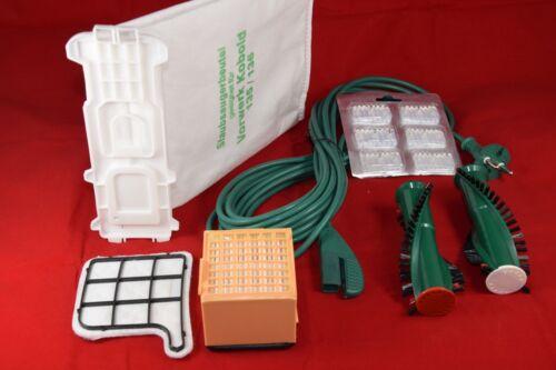 Vorwerk Kobold 135 mit EB 351 Beutel Filter Bürsten 17 teiliges Set passt f
