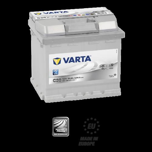 Batteria auto VARTA C30 54AH 530A cod. 554400053 Battery