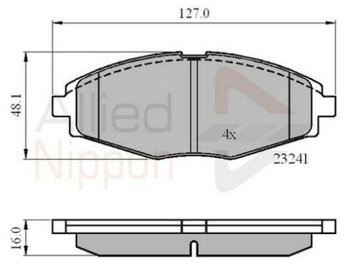 BRAND NEW Allied Nippon Front Brake Pad Set ADB0486 5 YEAR WARRANTY