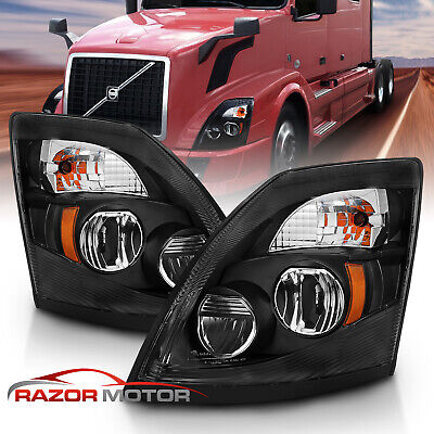 LED 2002 Volvo VN DAYCAB-POST Post mount spotlight 6 inch -Black Driver side WITH install kit Larson Electronics 1015P9IRHRG