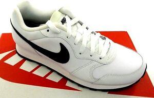 NIKE-MD-Runner-2-Men-039-s-Leather-Lifestyle-Shoes-White-Black-NWD-6-5-15-Med