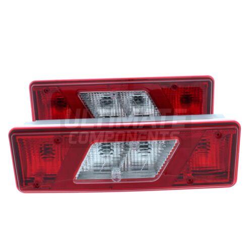 Transit Tipper Mk8 Luton Pickup 2014-2017 Rear Back Tail Lights Lamps 1 Pair