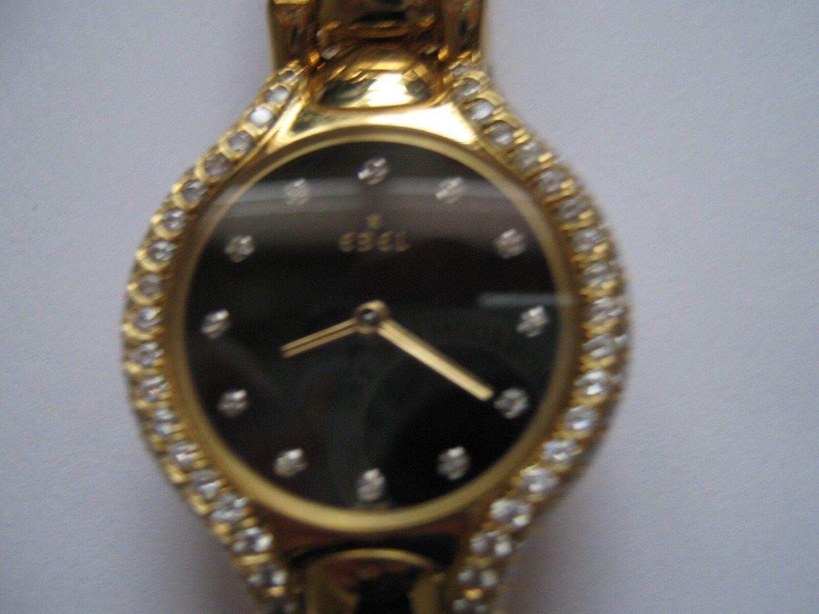 Ebel , Ladies Watch , 18k Yellow Gold , Beluga , Diamon