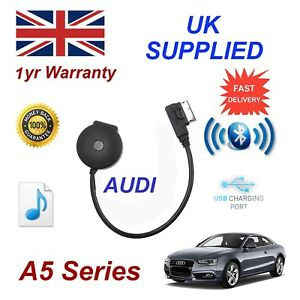 For AUDI A5 Bluetooth Music Streaming USB Module MP3 iPhone HTC Nokia LG Sony 09
