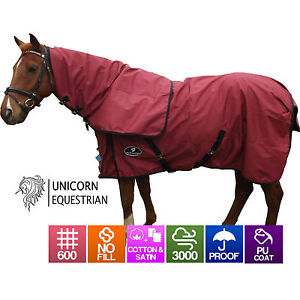 Details About Paddock Horse Rug Waterproof Cotton Lined Rainsheet 600d No Fill Size 4 6 To 9