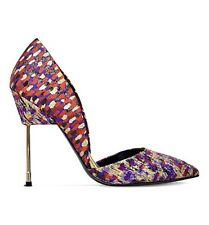 Kurt Geiger London Bond Jacquard High Heel Court Shoes Size UK 7 EU 40 RRP £230