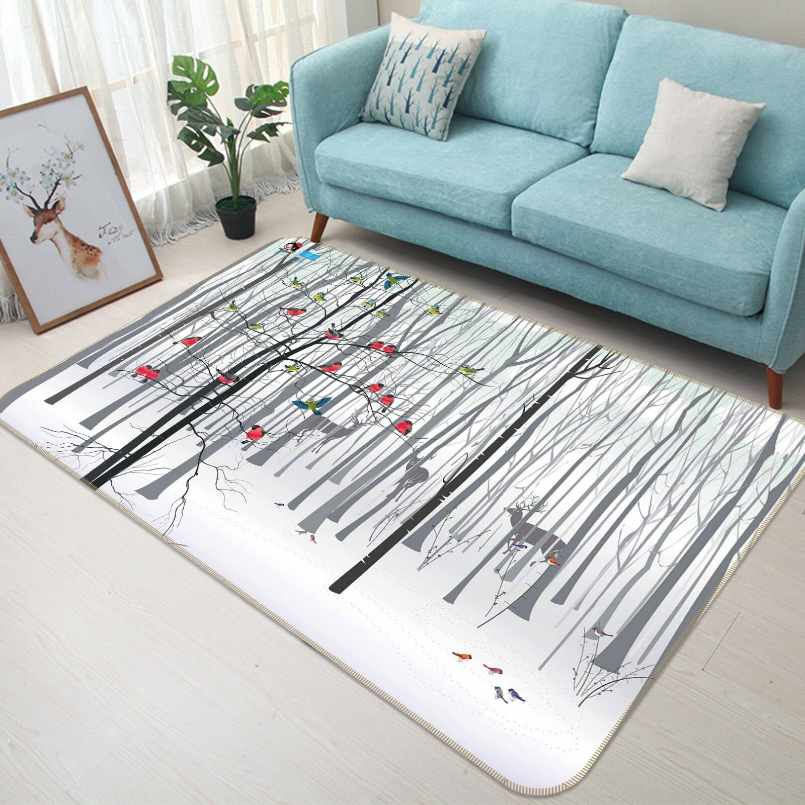 3D Coloreeosso Birds 55 Non Slip Rug Mat Room Mat Quality Elegant Photo Carpet AU