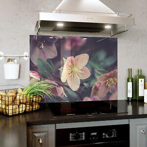 Splashback En Verre Cuisine Cuisinière Bloom Blossom Fleurs Floral Toute Taille 0469-afficher Le Titre D'origine