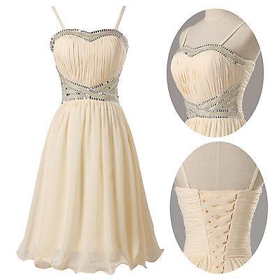 Stock Mini Beaded Homecoming Party Dress Prom Evening Cocktail Graduation Dress