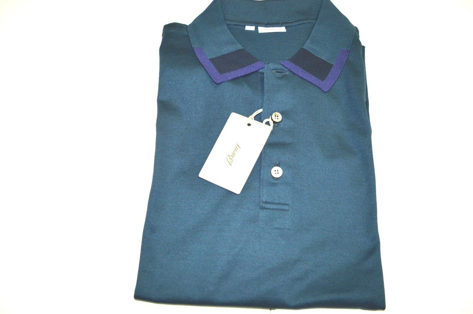 NEW  BRIONI Polo  Short Sleeve baumwolle Größe  L Us Eu 52  (SSG16)