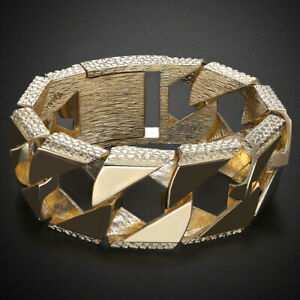 NEW-9ct-Gold-Heavy-weight-Ornate-Curb-Bracelet-221G-9-5-034-RRP-9310-B38-9-5-A