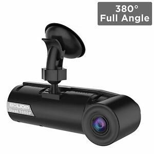 BRAND-NEW-SOLIOM-G1-380-Degree-Full-Angle-Car-Dash-Cam-Dual-190-Dashboard-Camera