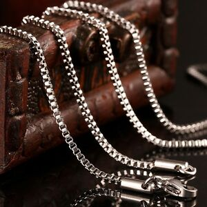1.5MM 18-20inch MENS Chain Stainless Steel Silver Tone Curb Link Necklace Bib